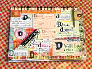 """D"" page in my #biblequiltjournal"