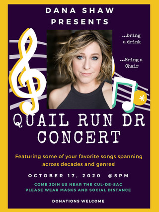 Dana will be performing in her second street concert !