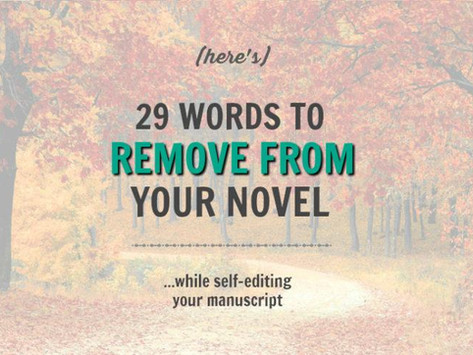 29 Words to Remove From Your Novel