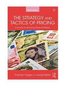 The strategy and tactics of pricing aNgle & Müller