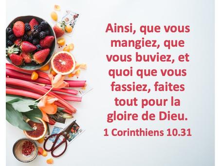Tout pour la gloire de Dieu