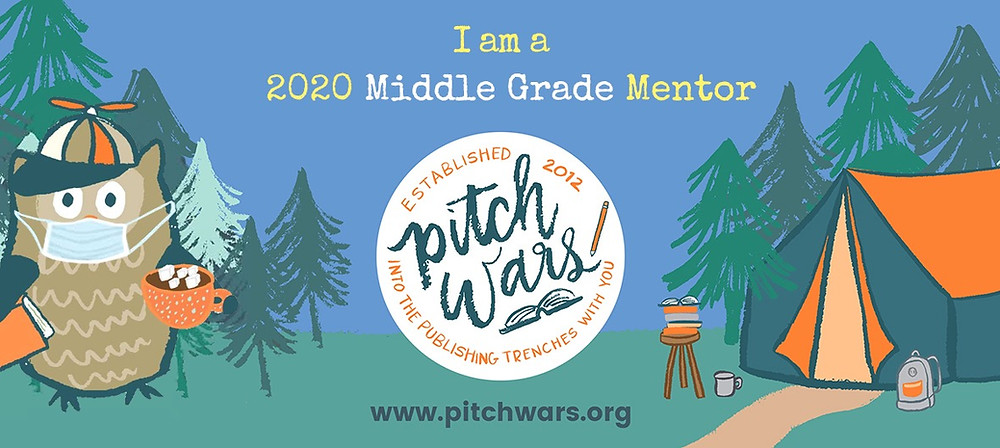 "Pitch Wars Graphic that says, ""I am a 2020 Middle Grade Mentor"""