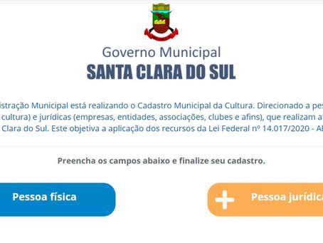 Santa Clara do Sul realiza o Cadastro Municipal da Cultura