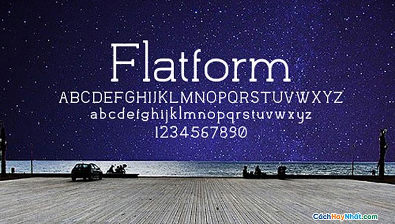 Font Flatform Free