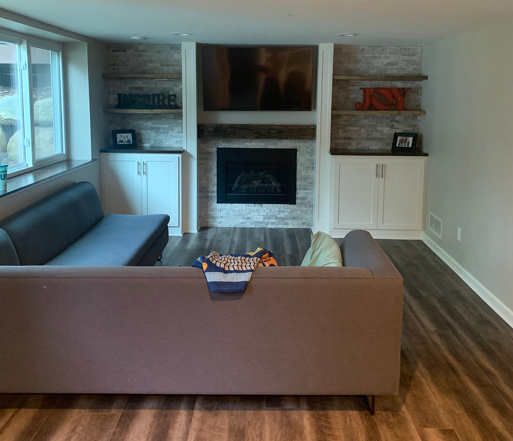 Finished Basement- Client Connection- Tersteeg | Pinnacle Interior Designs