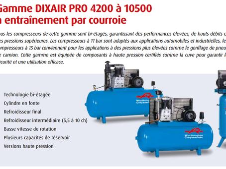 Approvisionnement régulier d'un stock de compresseur d'air pour l'industrie en Afrique de l'ouest.