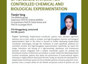 PhD public presentation by Tianjin Yang