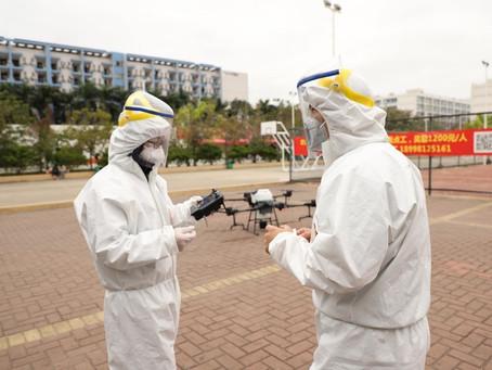 Uso de drones para combatir el coronavirus