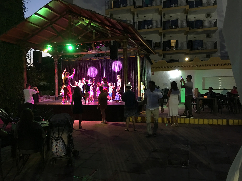 Children's disco at hotel