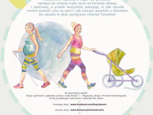 26 maj 2015 - mama w ruchu. Warsztaty nordic walking w Parku Południowym