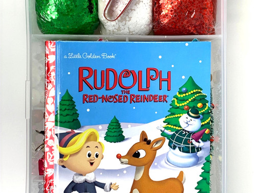 rudolph the red-nosed reindeer play dough kit