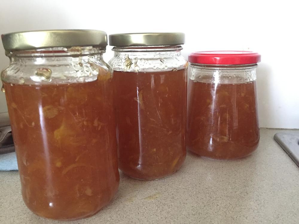 3 good size jars of markalade.