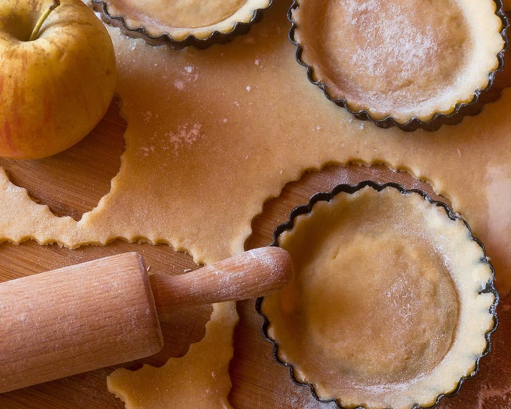 priprava modelov za jabolčno pito