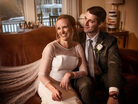 A Wedding Story: Keri & Dan's Winter Wonderland Wedding in the Inn at Manchester, Manchester VT