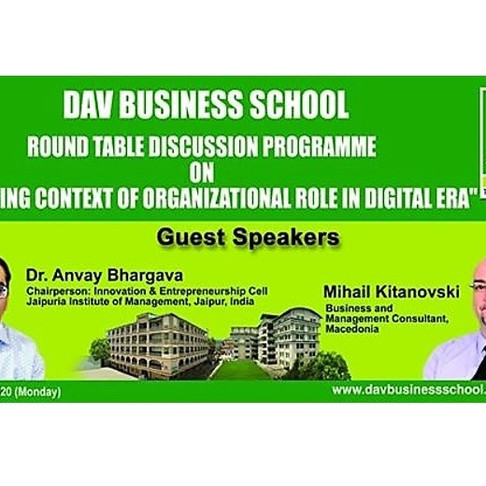 Changing the context of Organizational role in Digital technology - NEPAL, 04 April 2020, video ppt.