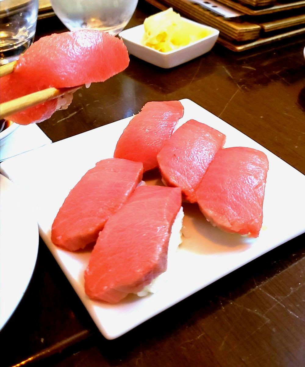 tuna toro sushi