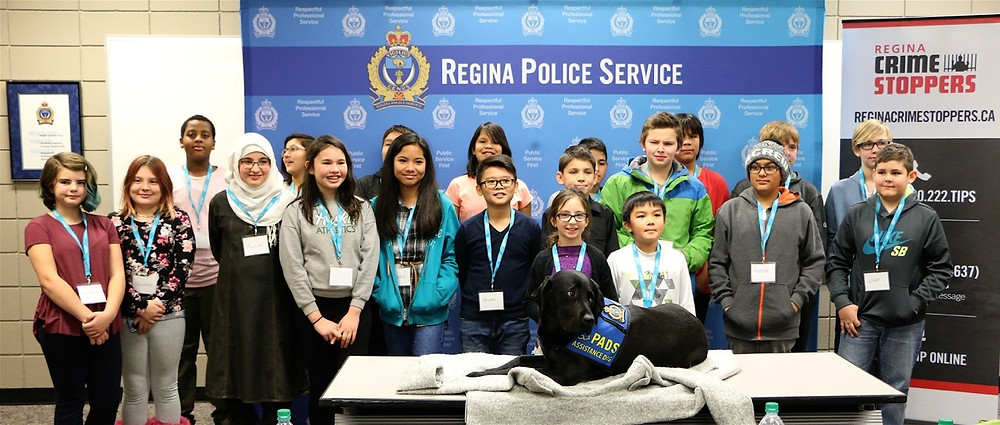 The future leaders and K-9 Merlot