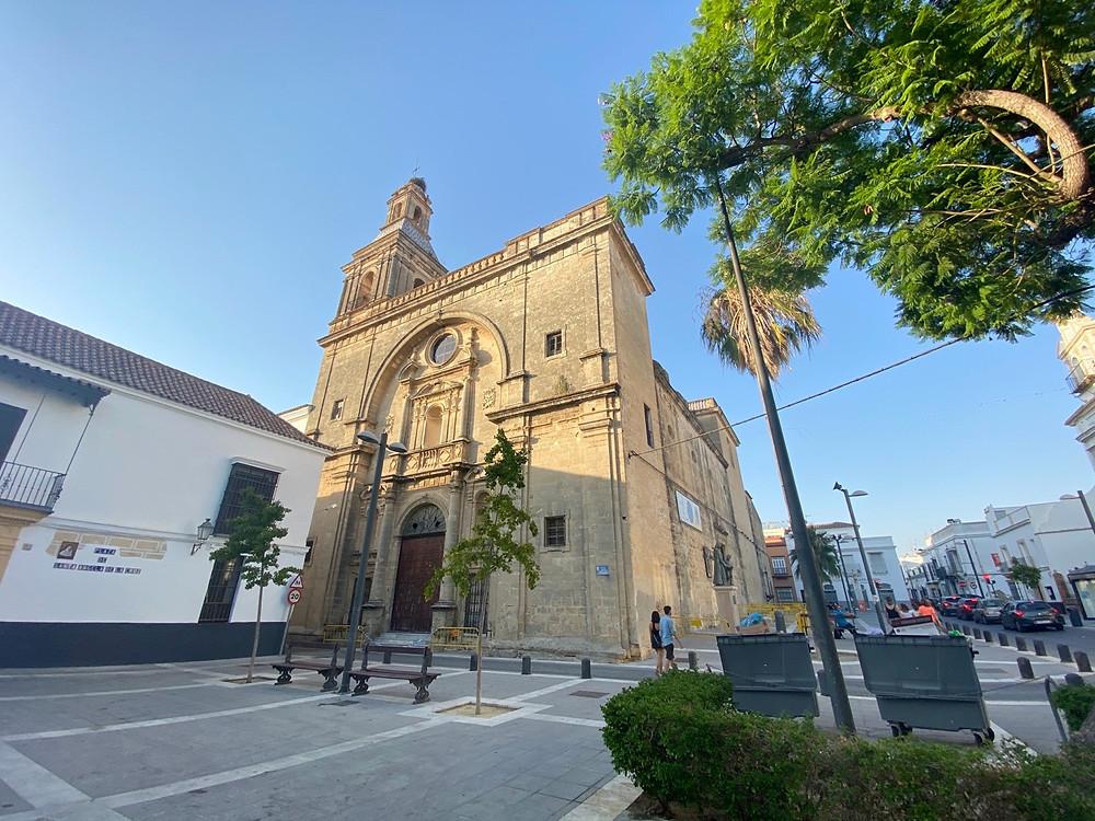 Iglesia de San Francisco exterior in Sanlucar de Barrameda, Cadiz, Spain