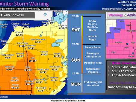 Winter storm warnings issued for Northern Plains