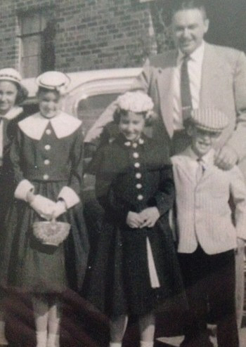 Me with four of my five children, c. 1950s.