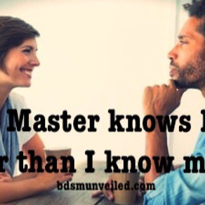 Master Knows me Better Than I Know Myself
