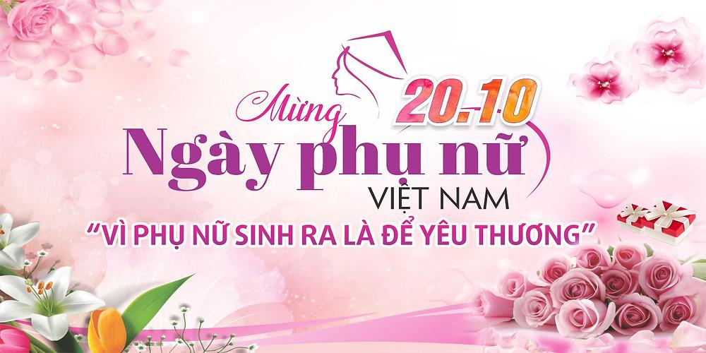 Tải Background Phông Nền Ngày Phụ Nữ Việt Nam 20/10 vector Corel CDR