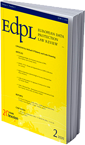 Rooter's publication in the European Data Protection Law Review