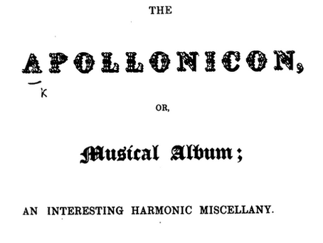 A List of Professors and Teachers of Music, in and near the Metropolis [of London] (1832)