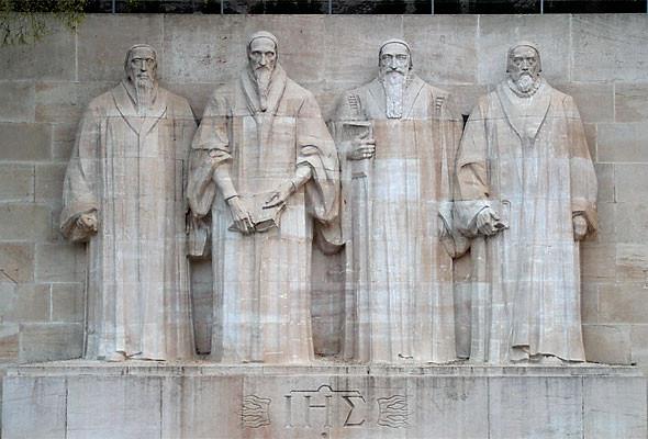 Monumento em honra aos Reformadores. Genebra, Suíça. Fonte: Wikipedia
