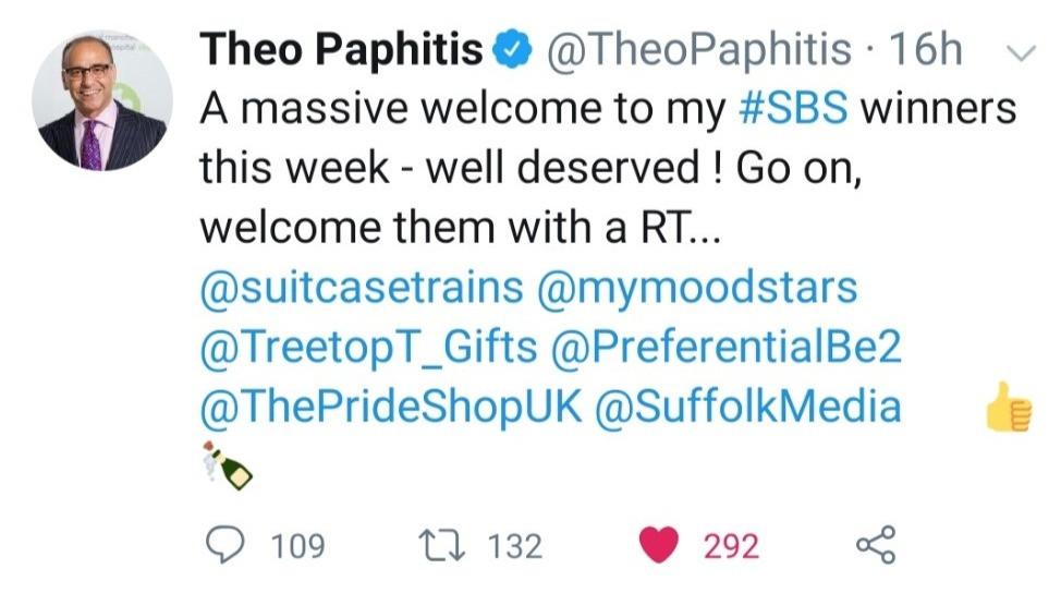 Theo Paphitis #SBS Tweet Treetop Treasures