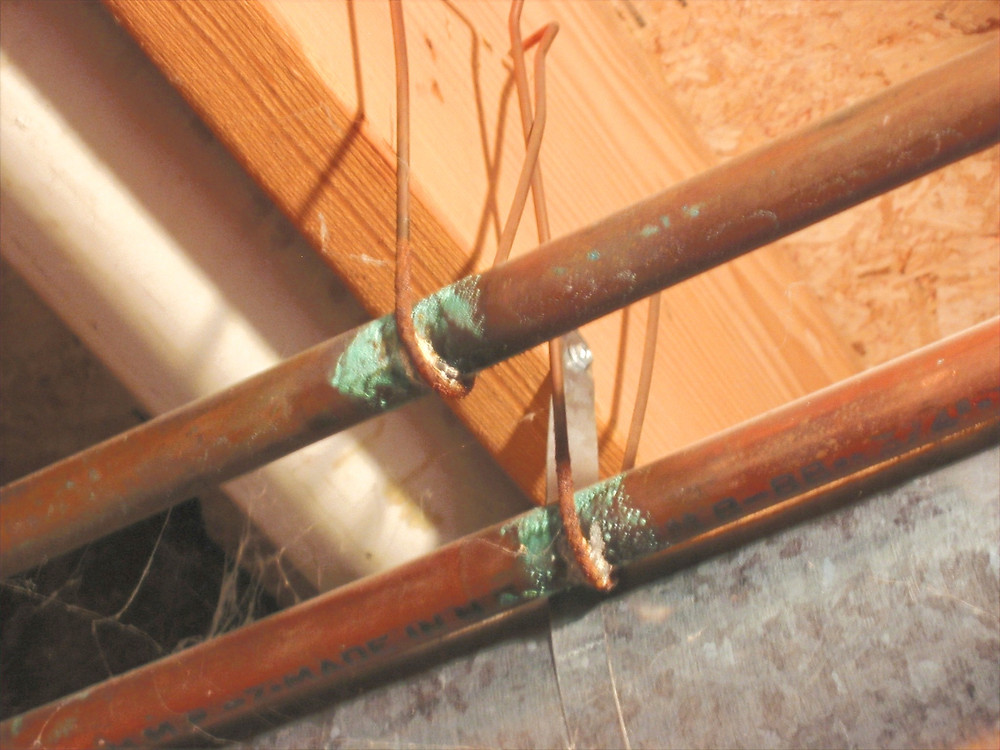 Corroded Copper Pipes