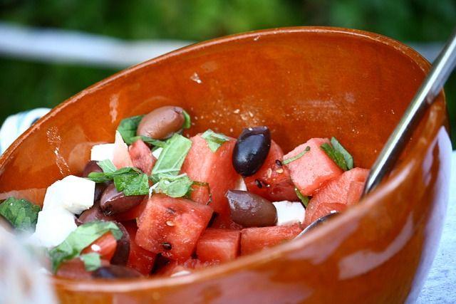 Recept na zdravý melounový salát