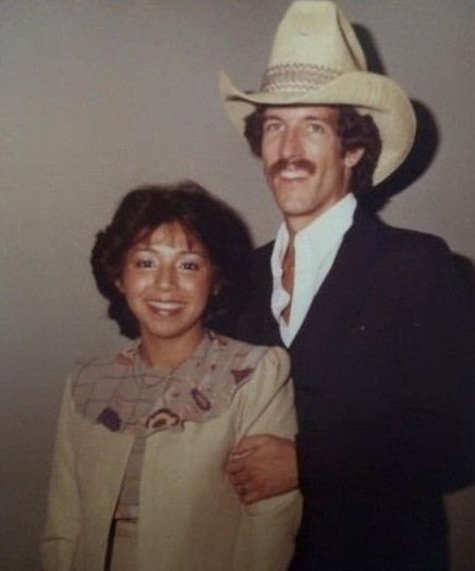 With my husband, 1982.