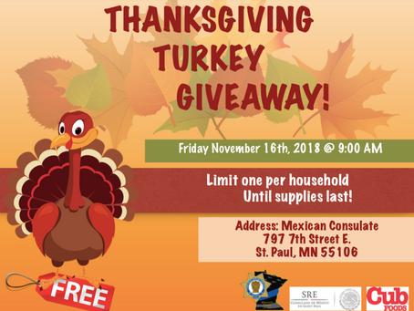 Pavos Gratis! Free Turkeys!