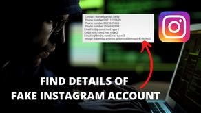 Get Instagram Fake Account Details 2020