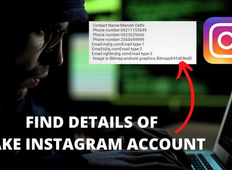 Get Instagram Fake Account Details
