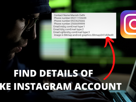Get Instagram Fake Account Details 2020