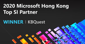 KBQuest Named Winner of Microsoft Hong Kong 2020 Top SI Partner