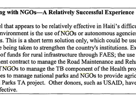 Haiti n'est pas la république des ONG