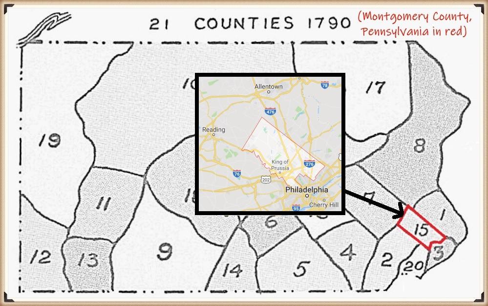 Montgomery County PA 1790