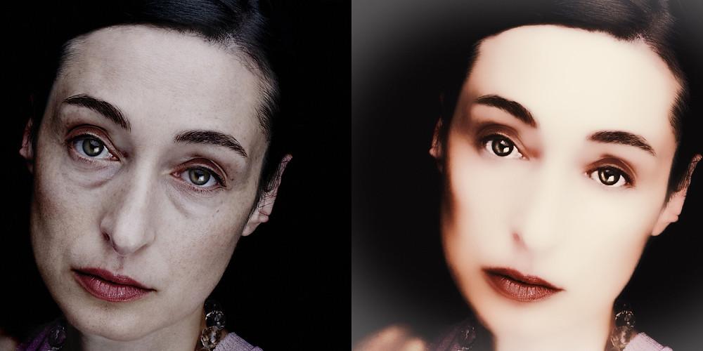 Fotografía antes y después.