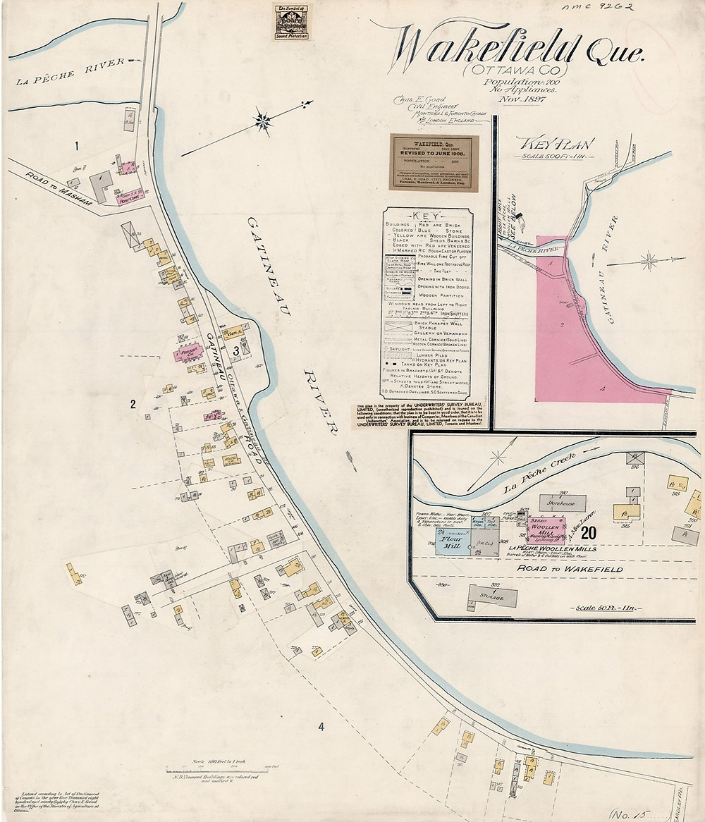 Historical map of Wakefield from 1897. Photo courtesy Gatineau Valley Historical Society.