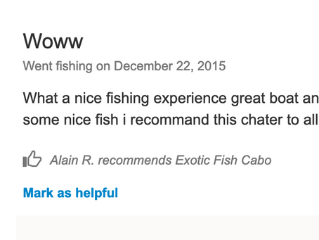 2015 December 22nd Customer's review