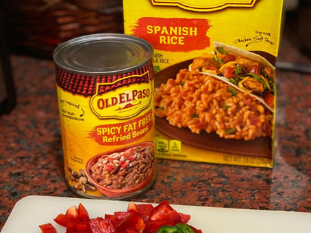 Re-fried Beans & Spanish Rice Burritos 🌯