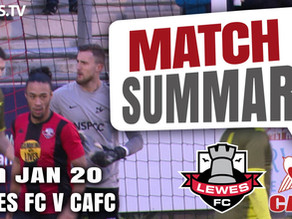 Match summary - Lewes