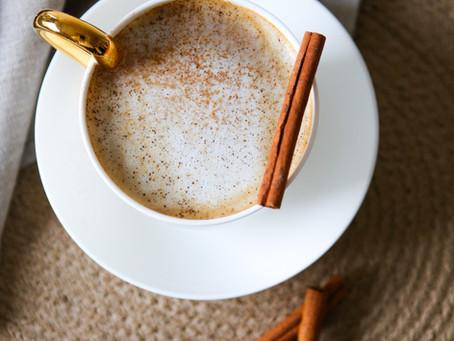 Pumpalatte med smak av vanilj