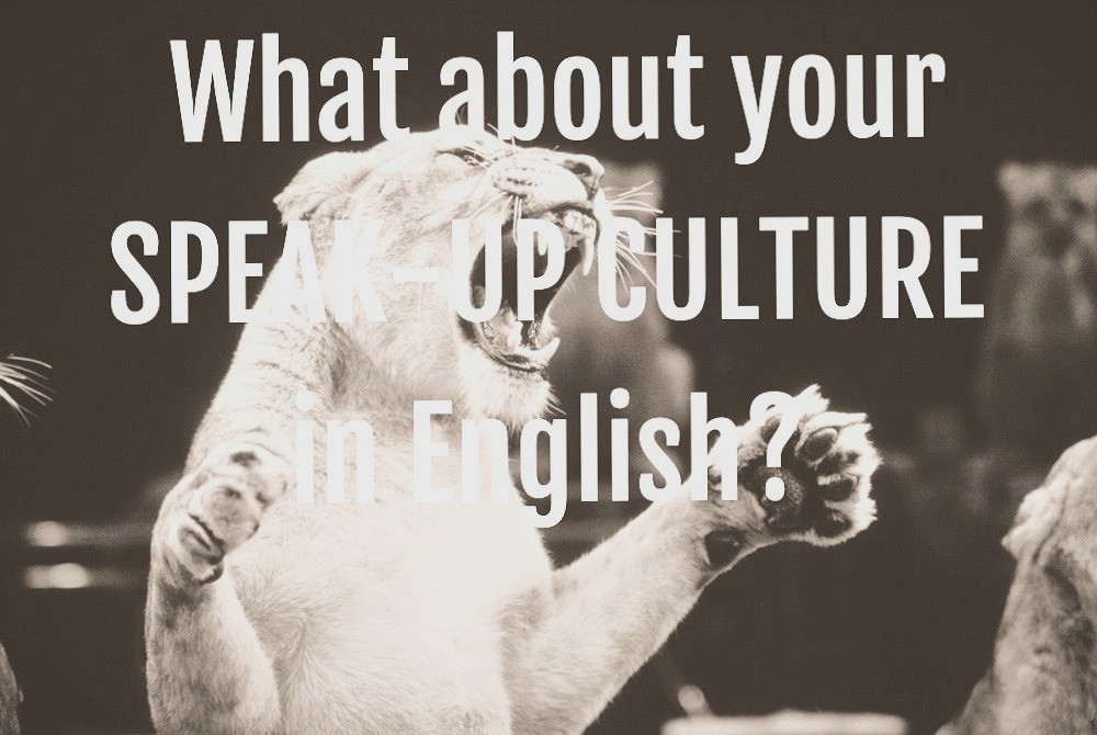 Lion. What about your speak-up culture in English