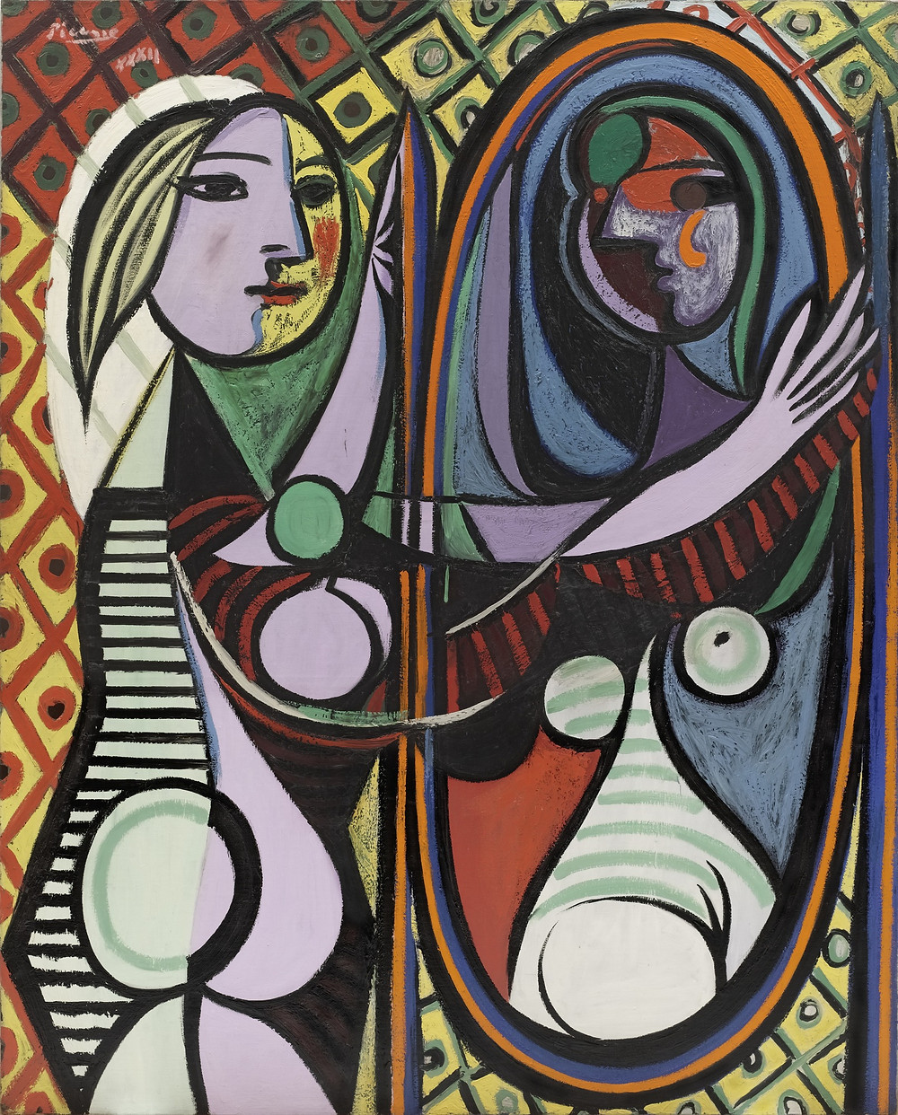 "Pablo Picasso, Girl before a Mirror Paris, 1932 [when ""know thyself"" coalesces with ""memento mori""]"