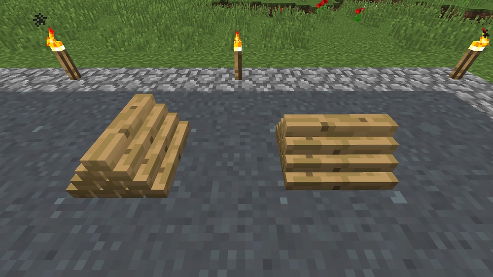 Minecraft Mod More Blox Small Plank Pile Rotation