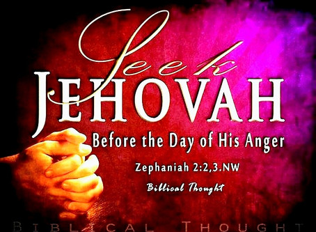 Jehovah's Day is upon us...